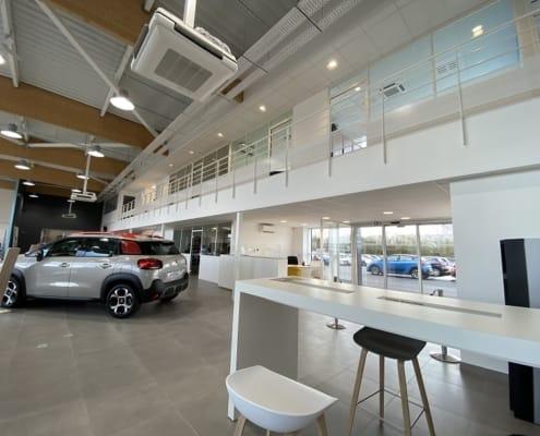 faux-plafonds concession automobile Pontivy