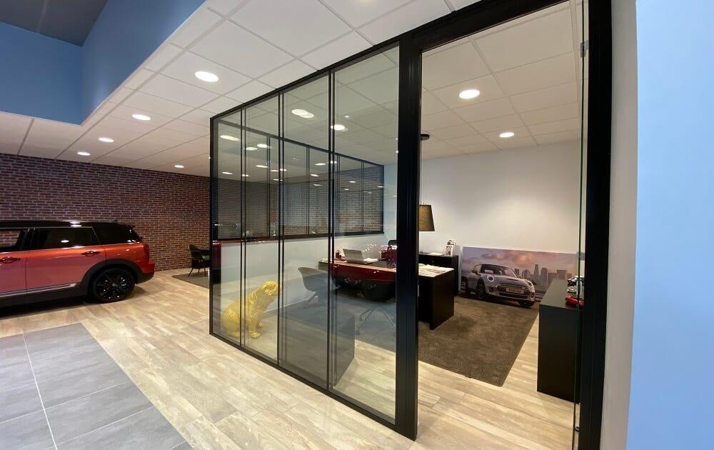 cloison modulaire vitrée
